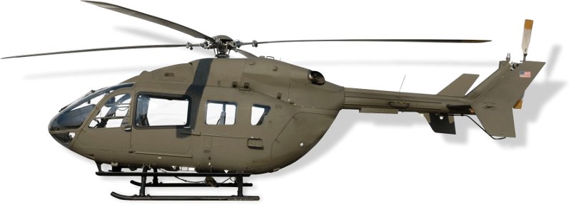 A 3D model of a UH-72 Lakota Helicopter